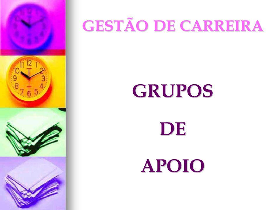 GESTÃO DE CARREIRA GRUPOS DE APOIO