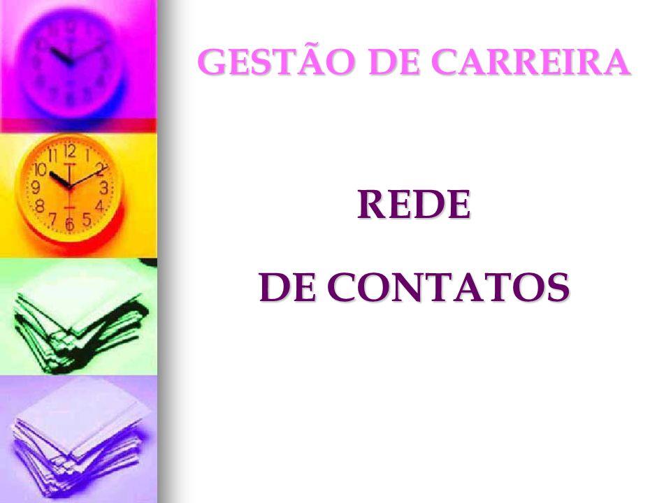 GESTÃO DE CARREIRA REDE DE CONTATOS