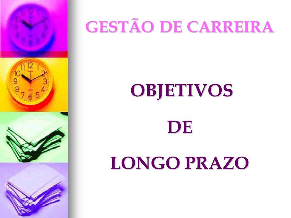 GESTÃO DE CARREIRA OBJETIVOS DE LONGO PRAZO