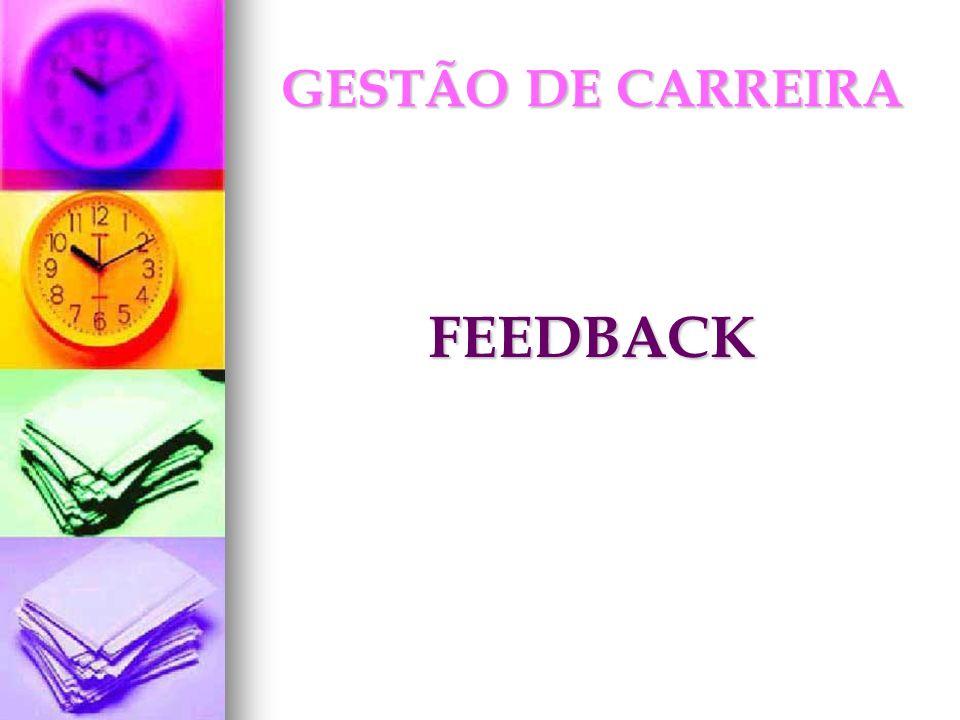 GESTÃO DE CARREIRA FEEDBACK