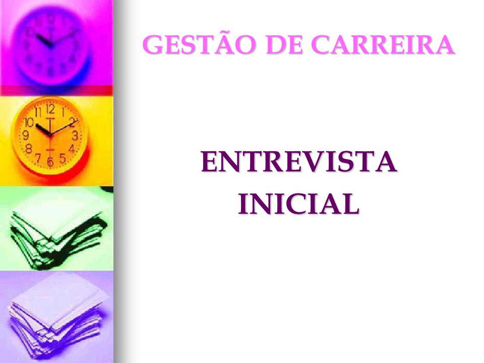 GESTÃO DE CARREIRA ENTREVISTA INICIAL