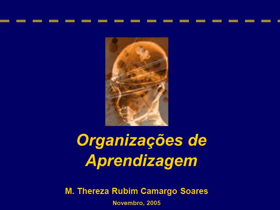 M. Thereza Rubim Camargo Soares Organizações de Aprendizagem