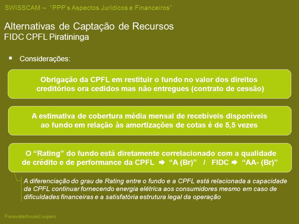 Alternativas de Captação de Recursos FIDC CPFL Piratininga