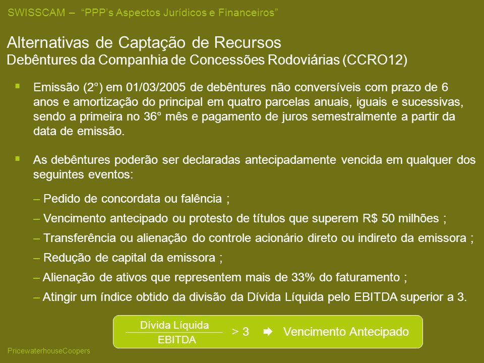 25/03/2017 Alternativas de Captação de Recursos Debêntures da Companhia de Concessões Rodoviárias (CCRO12)