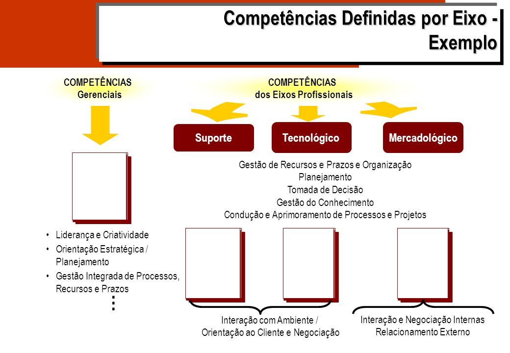 Competências Definidas por Eixo - Exemplo