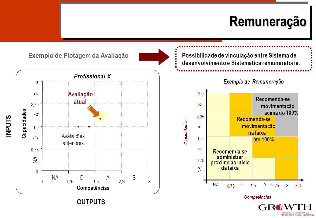 Remuneração Exemplo de Plotagem da Avaliação INPUTS OUTPUTS
