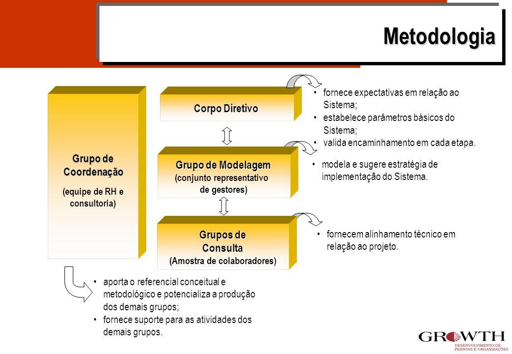 Metodologia Corpo Diretivo Grupo de Coordenação Grupo de Modelagem