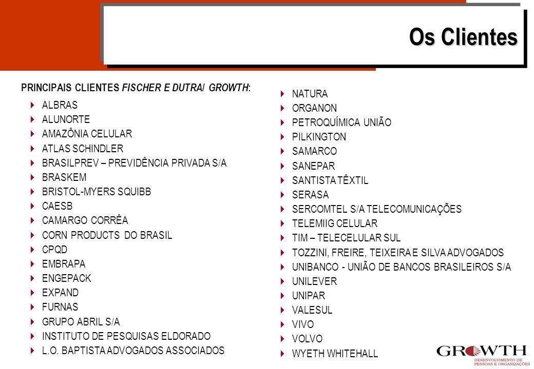 Os Clientes PRINCIPAIS CLIENTES FISCHER E DUTRA/ GROWTH: NATURA