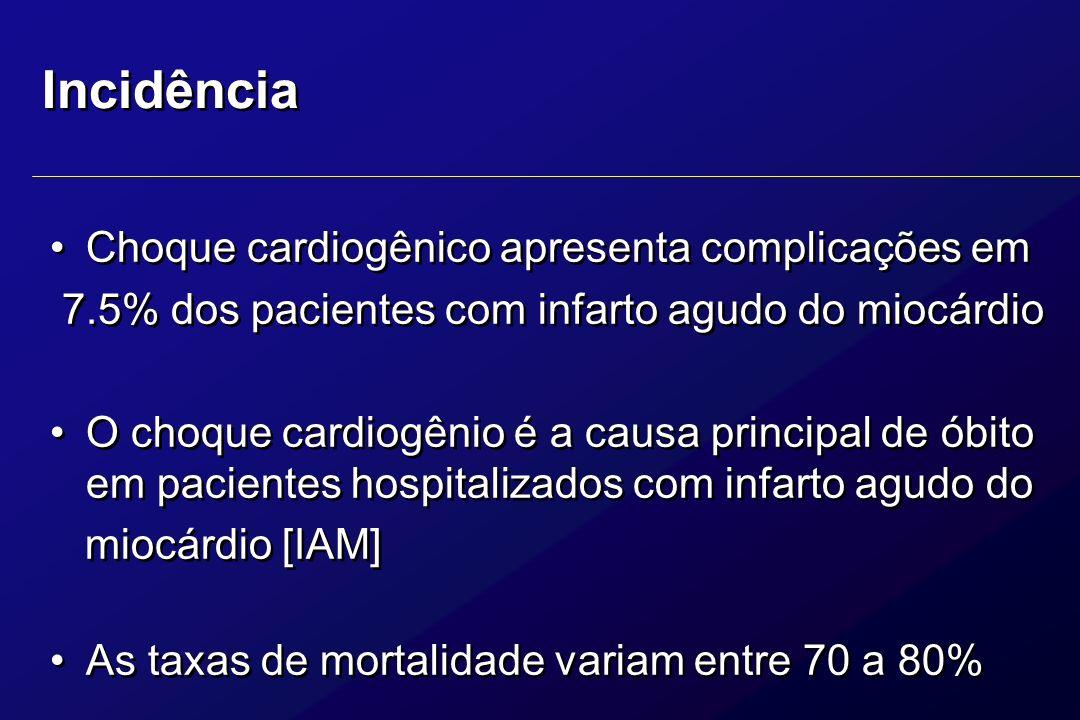 A Chave para um bom resultado é um acesso organizado com um diagnóstico rápido e iniciação imediata de terapia para manter a pressão sanguínea e o rendimento cardíaco.