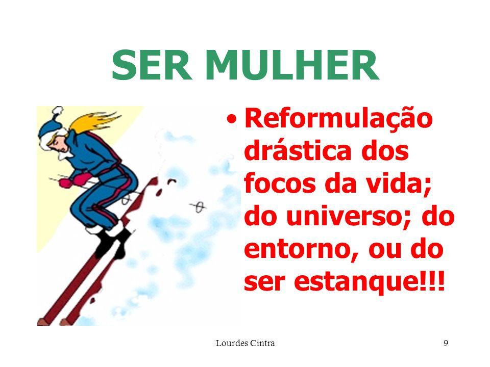 SER MULHER Reformulação drástica dos focos da vida; do universo; do entorno, ou do ser estanque!!.