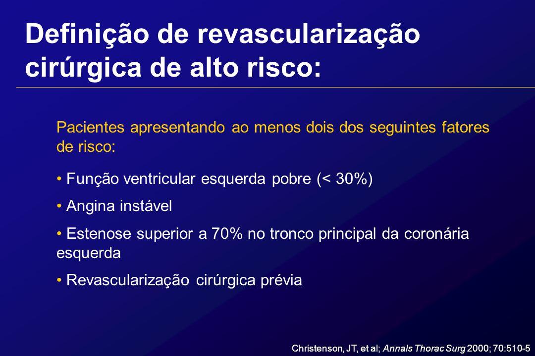 Definição de revascularização cirúrgica de alto risco: