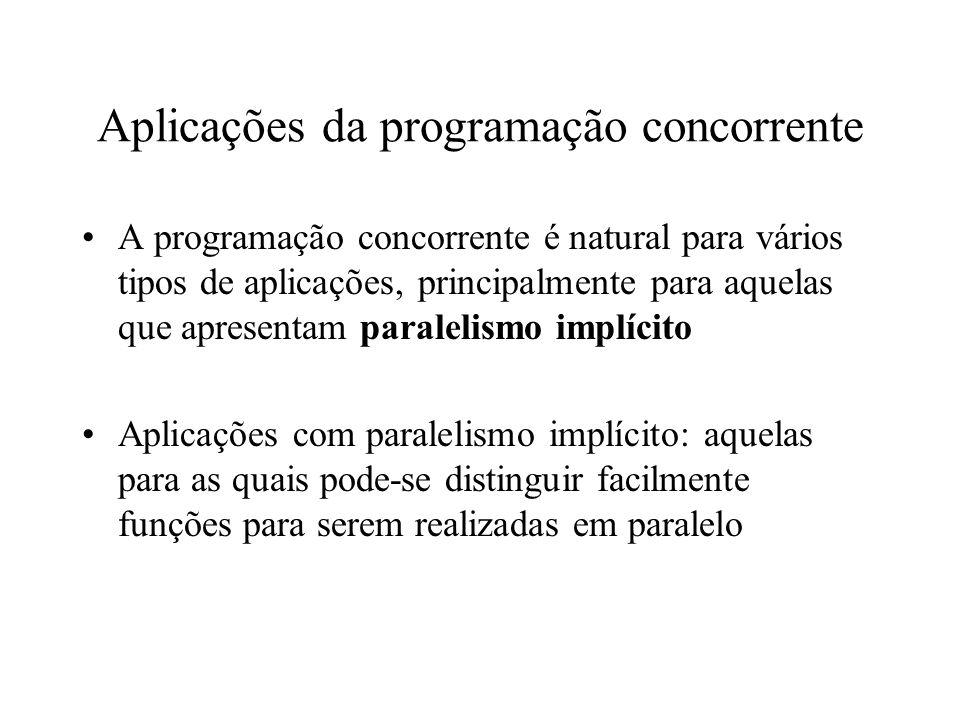 Aplicações da programação concorrente