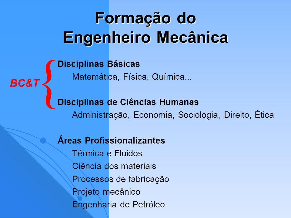 Formação do Engenheiro Mecânica