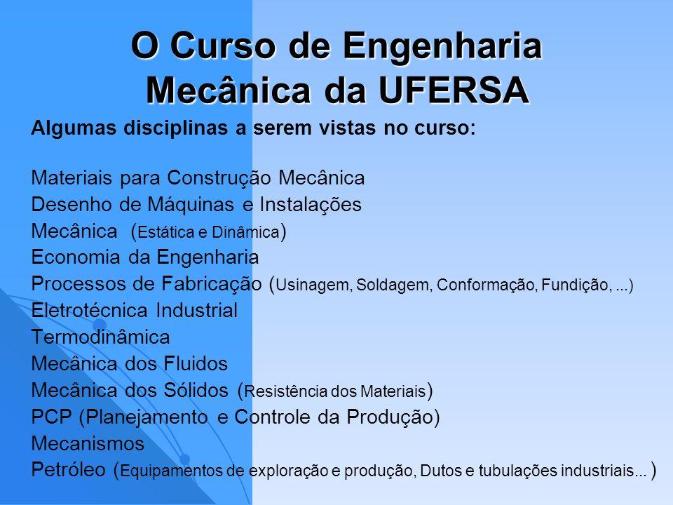 O Curso de Engenharia Mecânica da UFERSA
