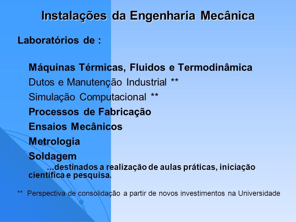 Instalações da Engenharia Mecânica