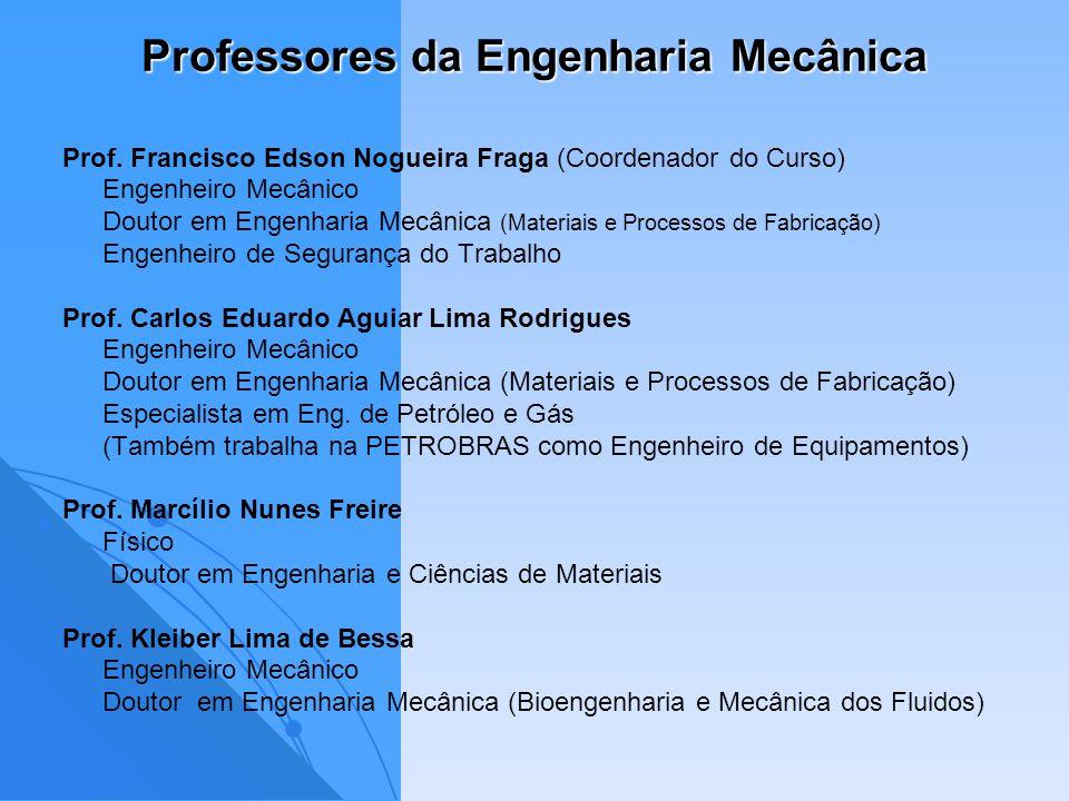 Professores da Engenharia Mecânica