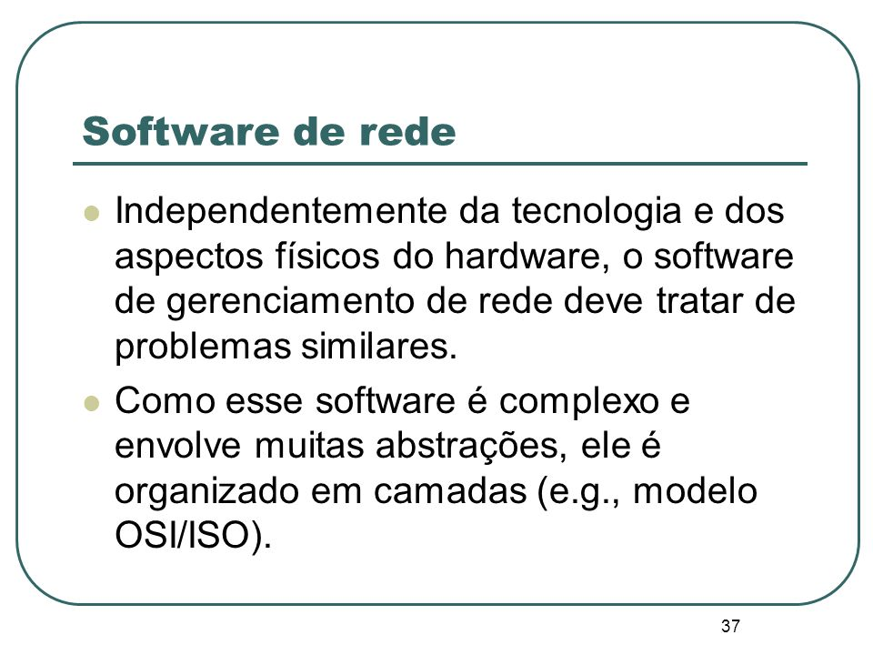 Software de rede