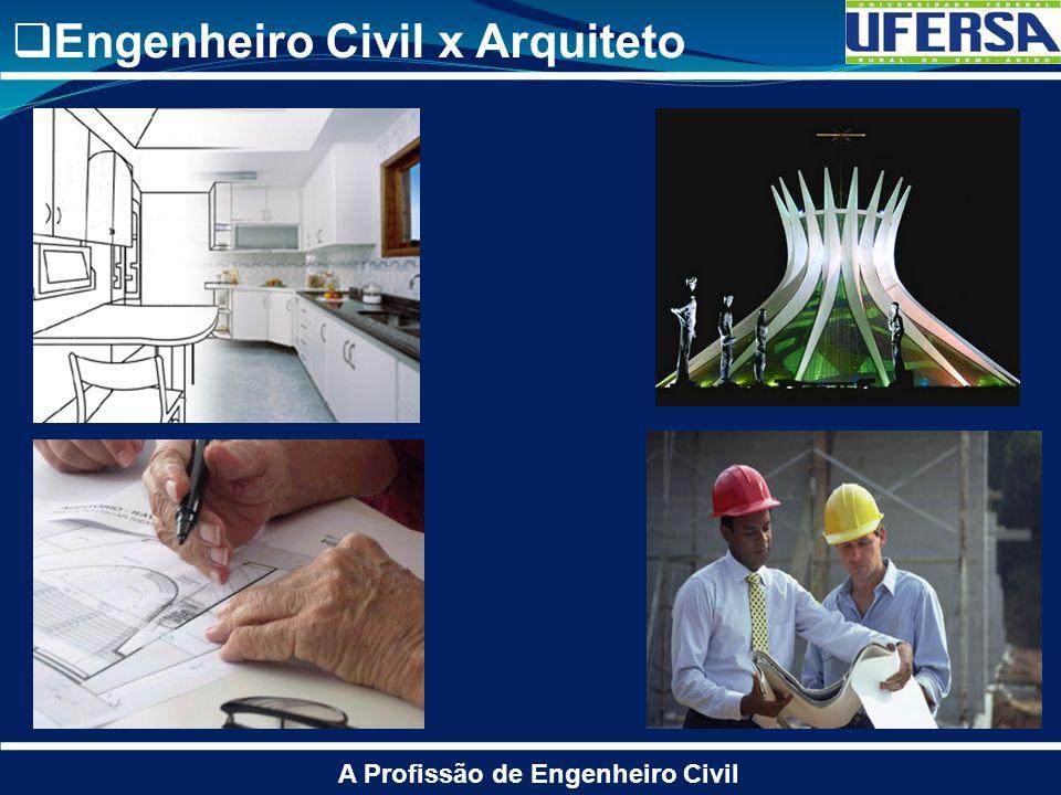 Engenheiro Civil x Arquiteto A Profissão de Engenheiro Civil