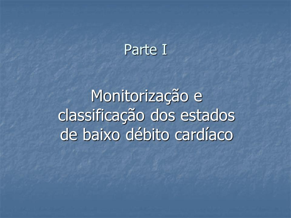 Monitorização e classificação dos estados de baixo débito cardíaco