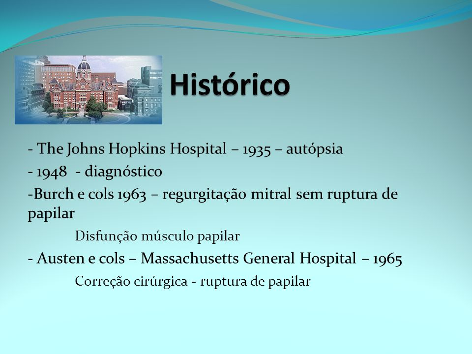Histórico - The Johns Hopkins Hospital – 1935 – autópsia