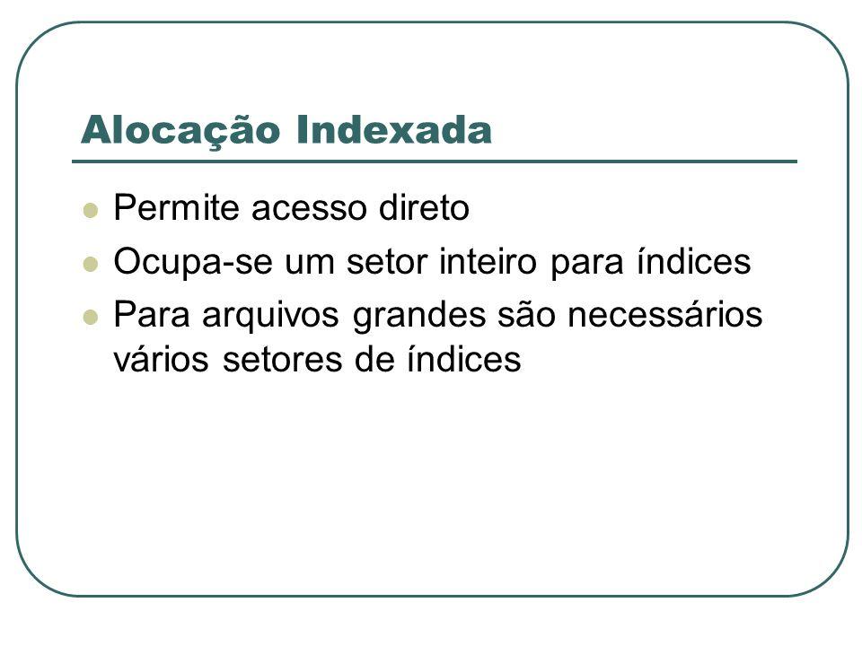 Alocação Indexada Permite acesso direto
