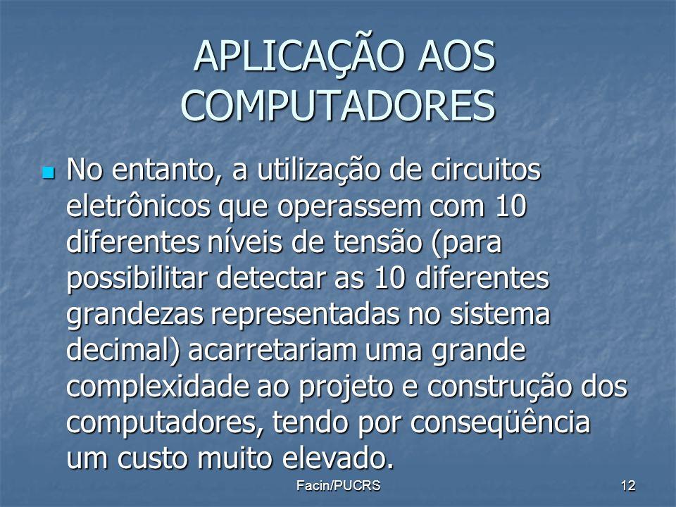 APLICAÇÃO AOS COMPUTADORES