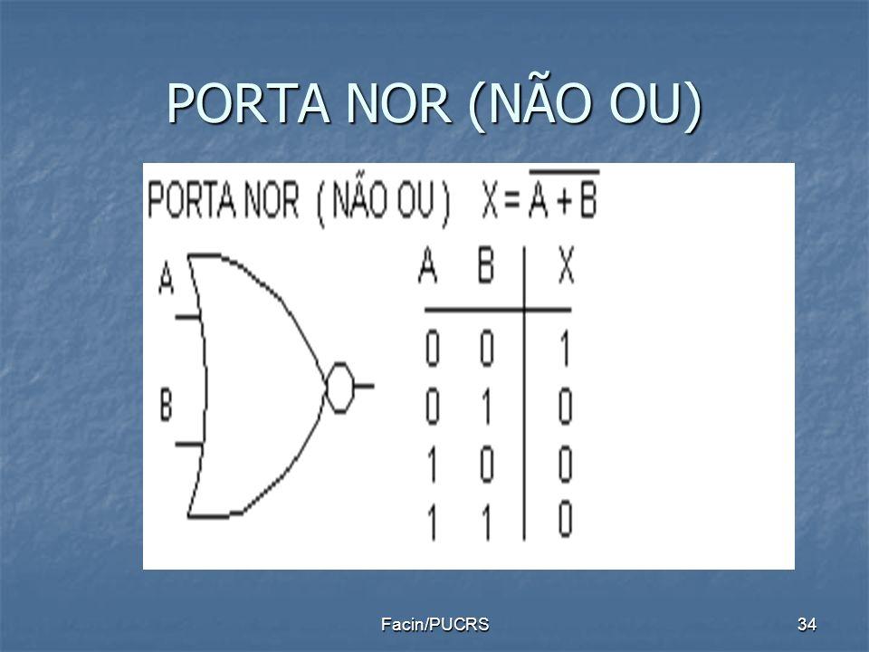 PORTA NOR (NÃO OU) Facin/PUCRS