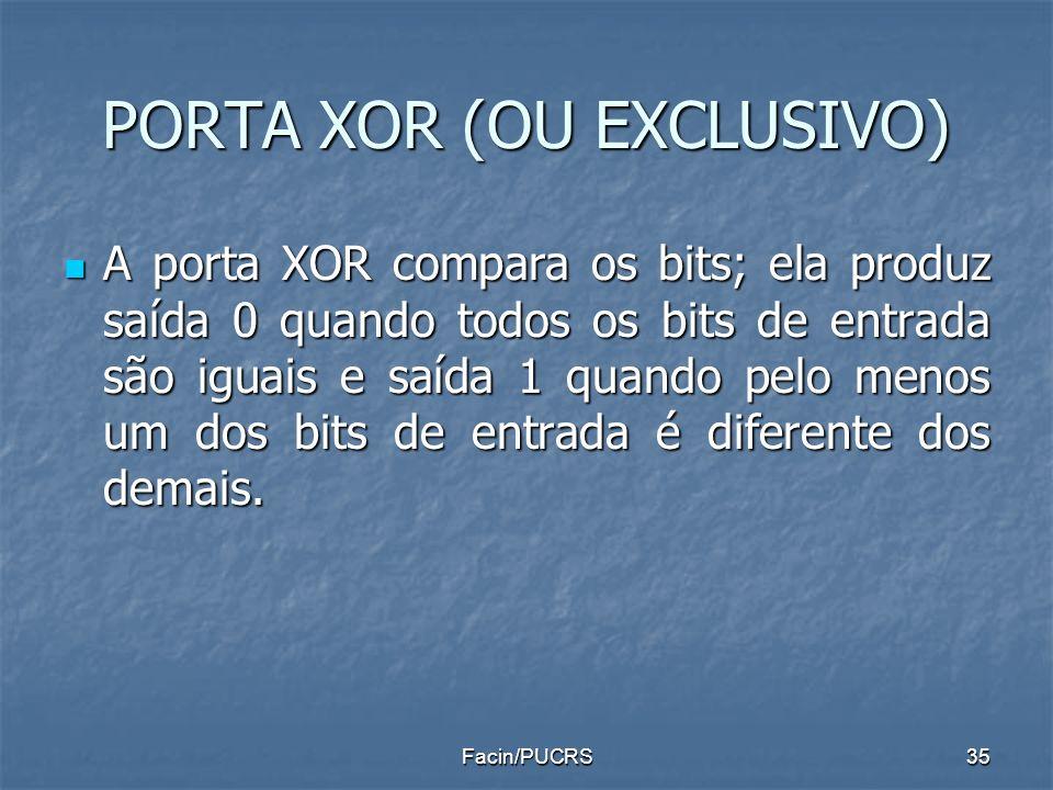 PORTA XOR (OU EXCLUSIVO)
