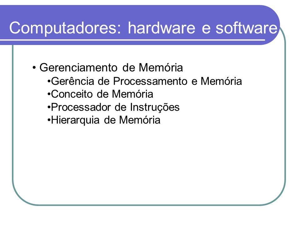 Computadores: hardware e software
