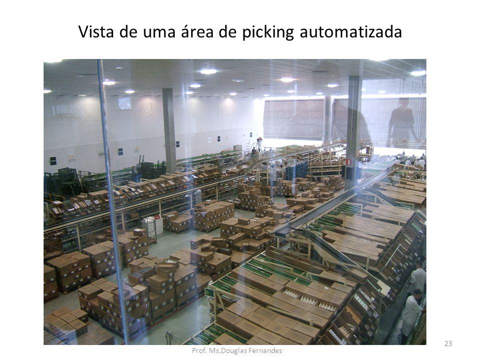 Vista de uma área de picking automatizada
