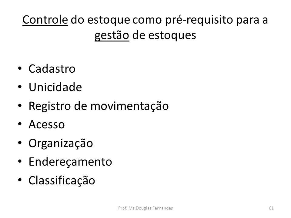 Controle do estoque como pré-requisito para a gestão de estoques