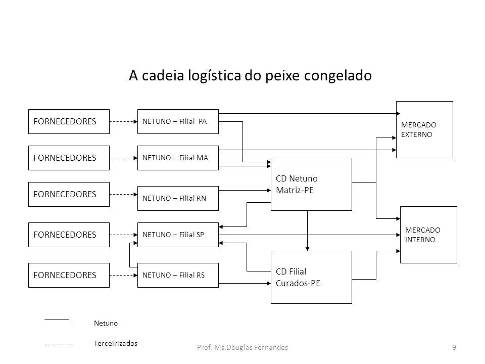 A cadeia logística do peixe congelado