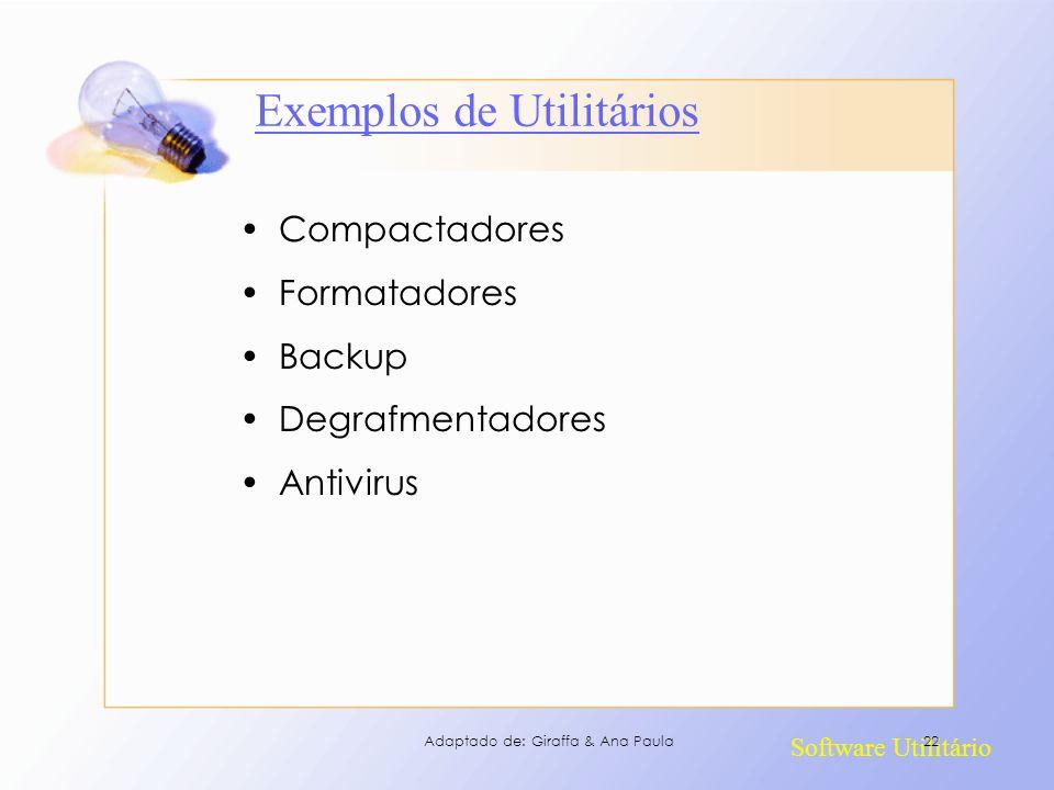 Exemplos de Utilitários
