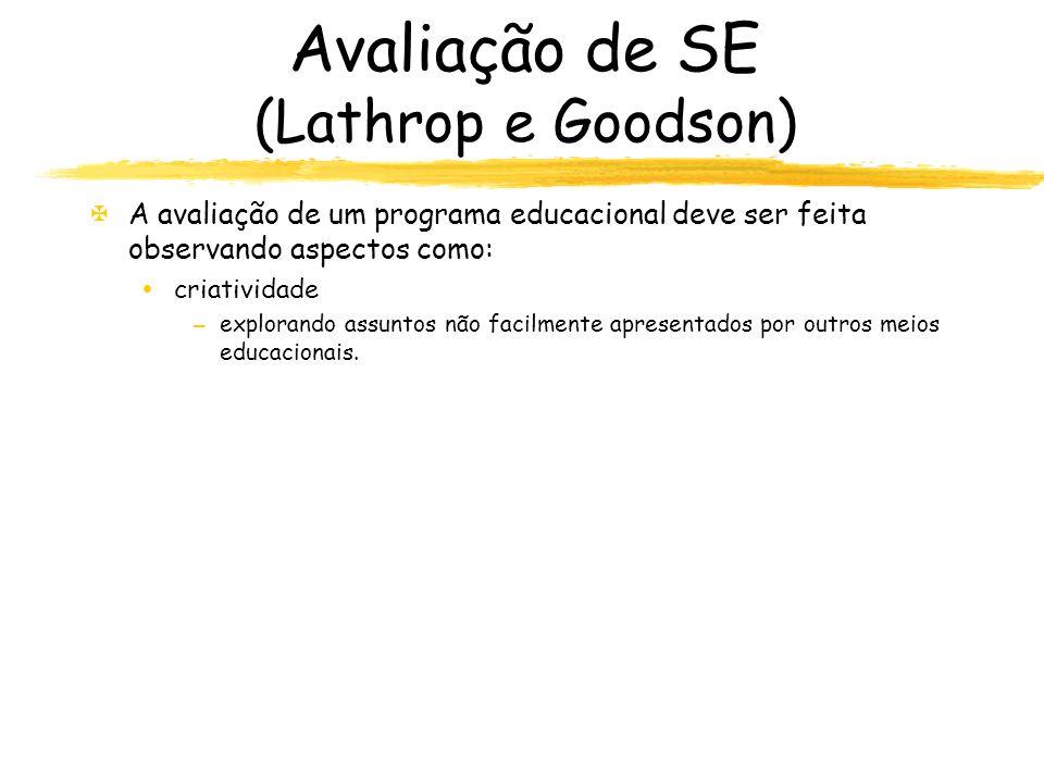 Avaliação de SE (Lathrop e Goodson)