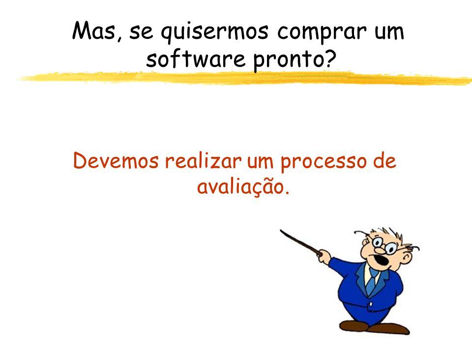 Mas, se quisermos comprar um software pronto