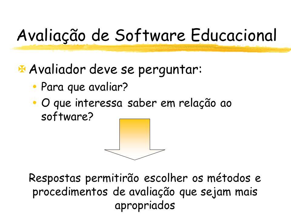 Avaliação de Software Educacional