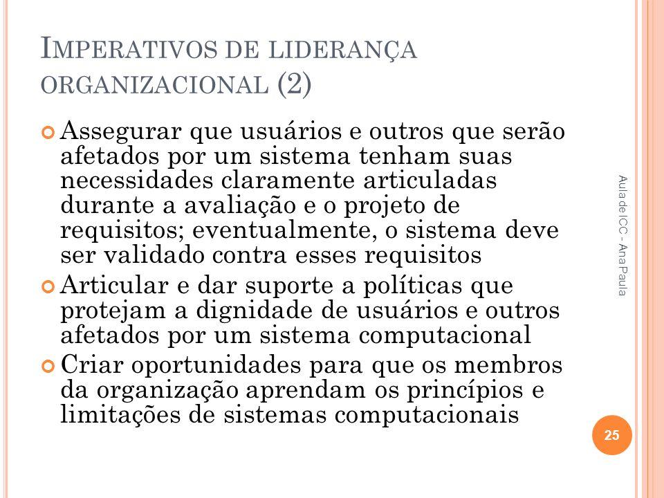 Imperativos de liderança organizacional (2)