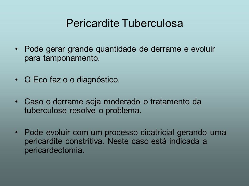 Pericardite Tuberculosa