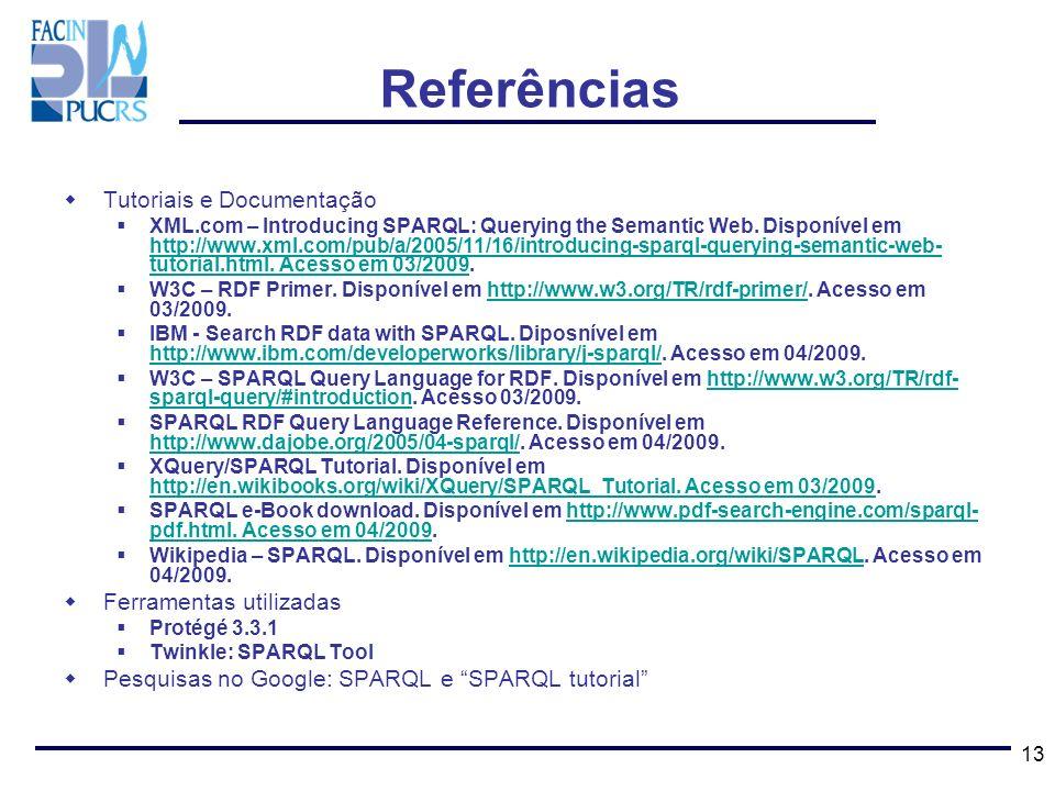 Referências Tutoriais e Documentação Ferramentas utilizadas