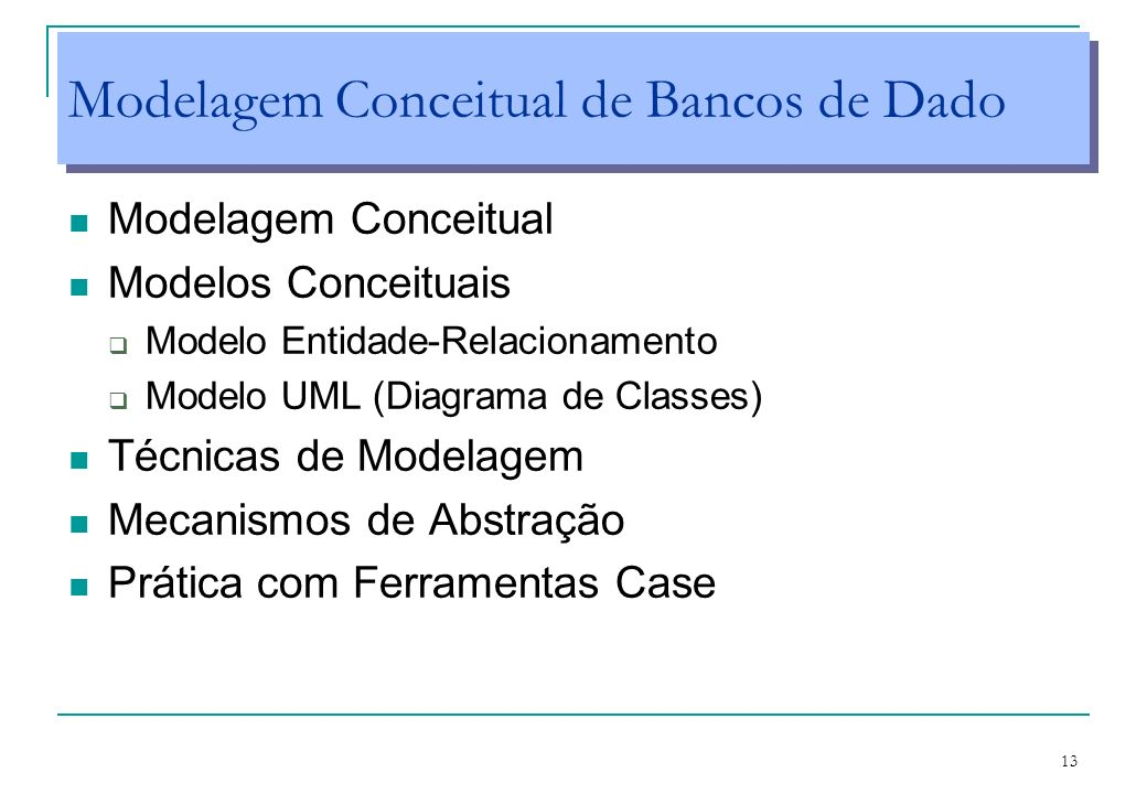 Modelagem Conceitual de Bancos de Dado