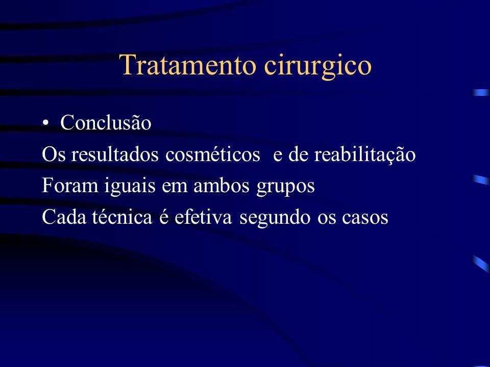Tratamento cirurgico Conclusão