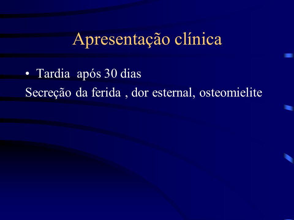 Apresentação clínica Tardia após 30 dias
