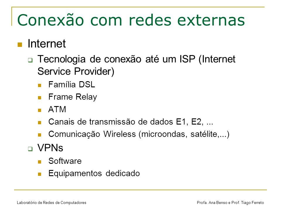 Conexão com redes externas