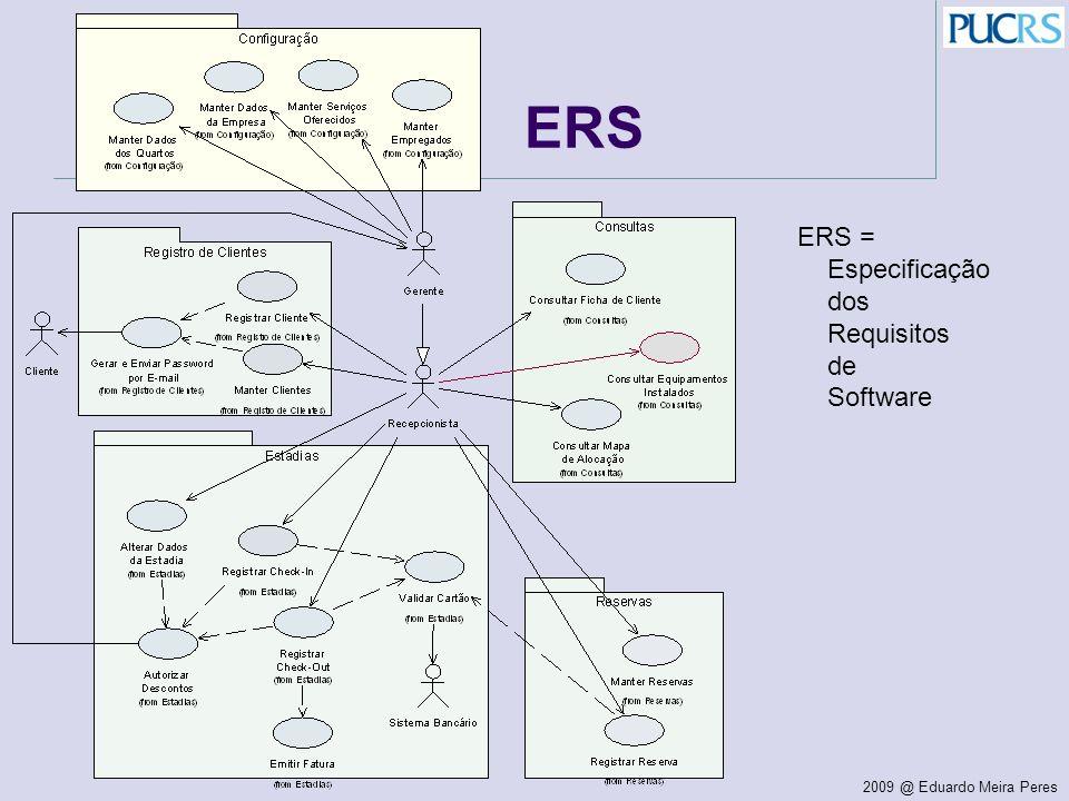 ERS ERS = Especificação dos Requisitos de Software