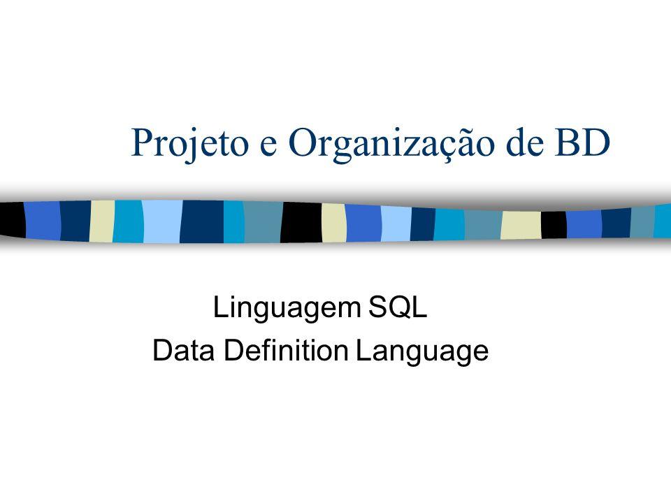 Projeto e Organização de BD