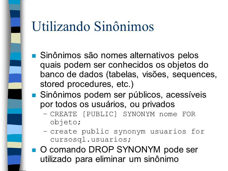 Utilizando Sinônimos