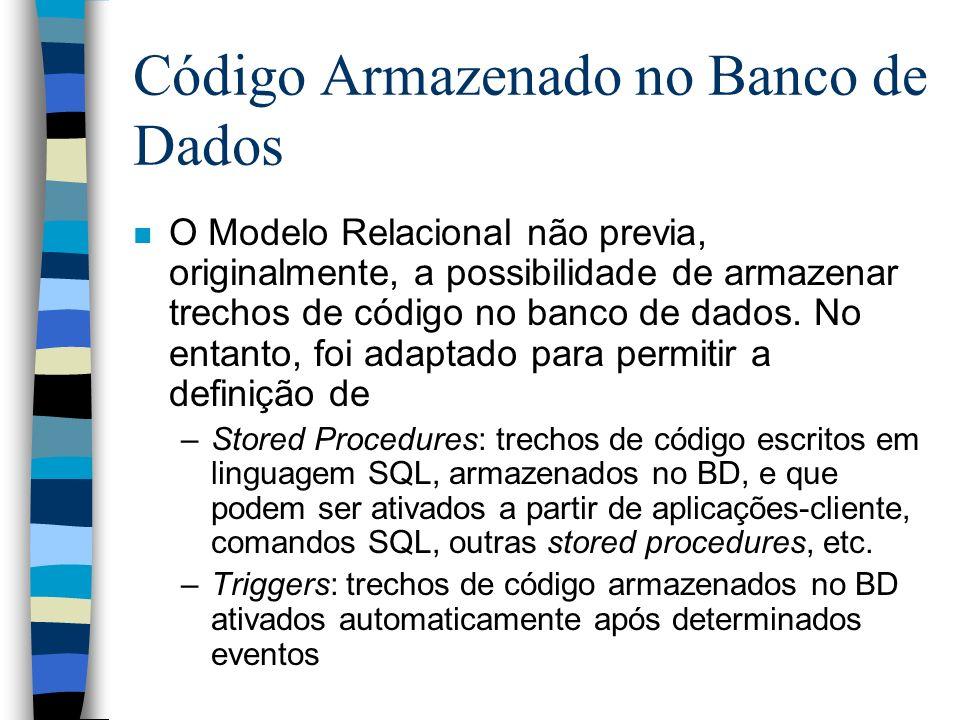 Código Armazenado no Banco de Dados