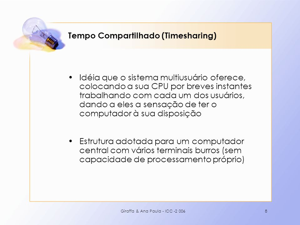 Tempo Compartilhado (Timesharing)