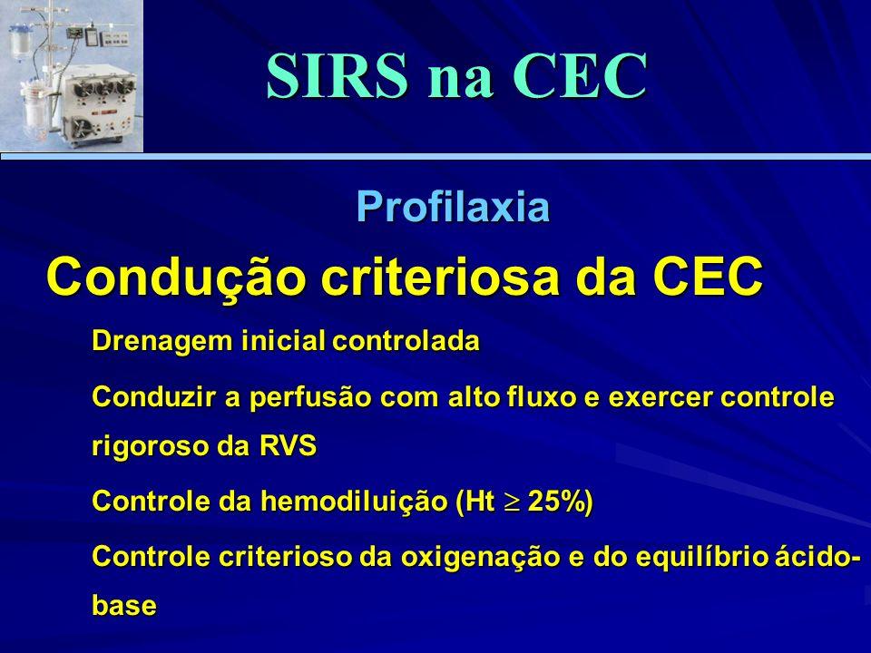SIRS na CEC Condução criteriosa da CEC Profilaxia