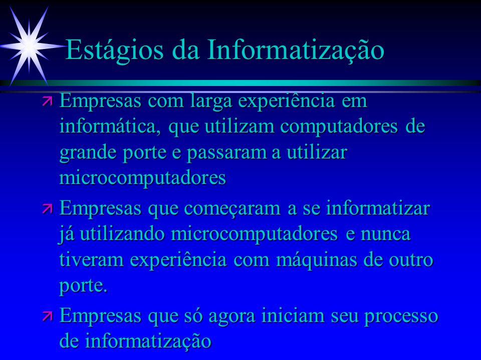 Estágios da Informatização
